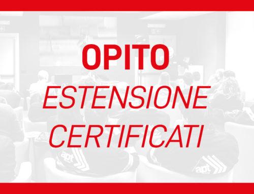 Estensione Certificati OPITO – 2 mesi