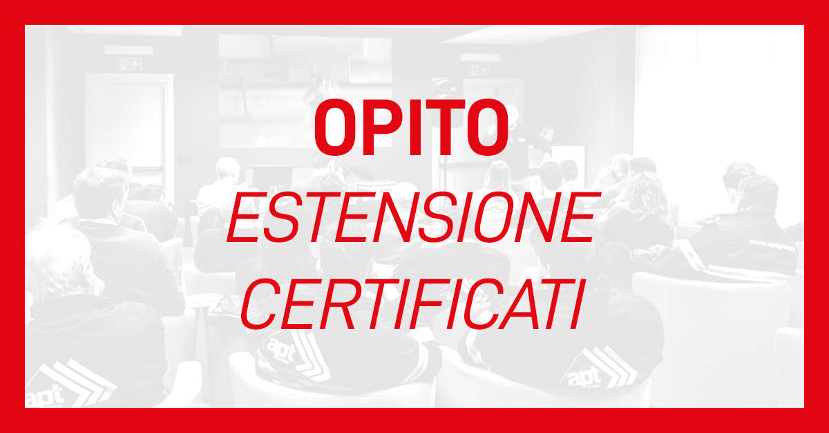 opito estensione certificati apt safety group