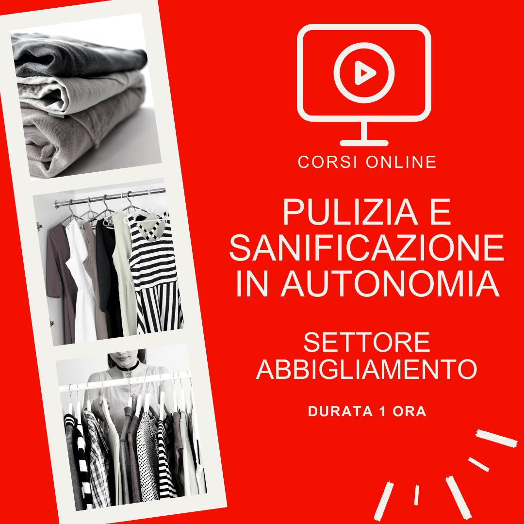 Pulizia e sanificazione dell'ambiente di lavoro svolto in autonomia - settore abbigliamento