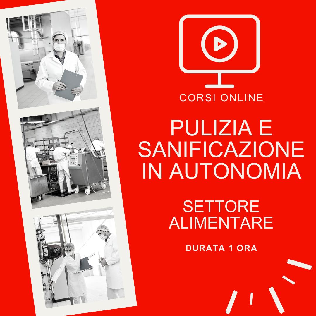 Pulizia e sanificazione dell'ambiente di lavoro svolto in autonomia - settore alimentare