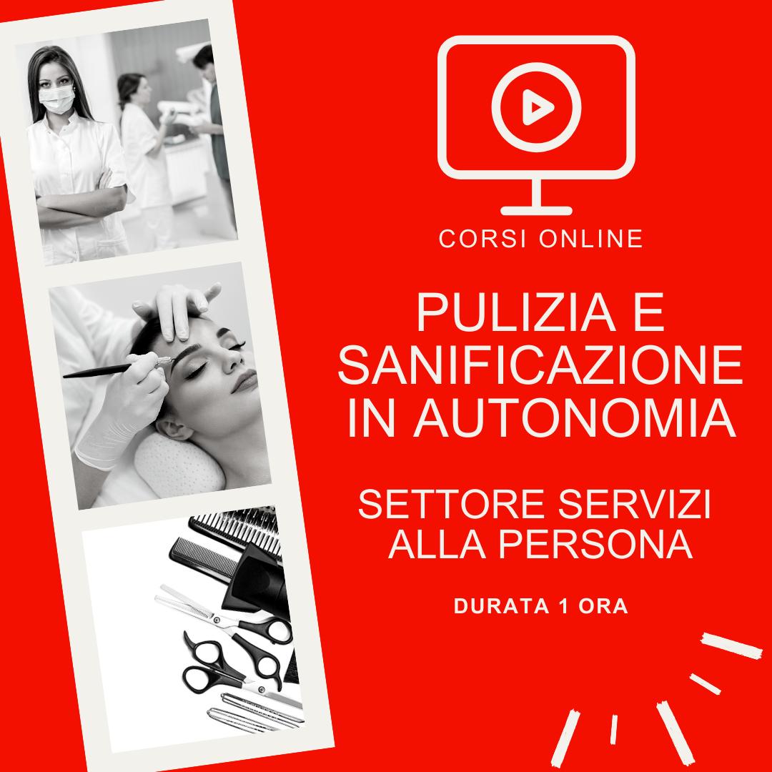 Pulizia e sanificazione dell'ambiente di lavoro svolto in autonomia - settore servizi alla persona